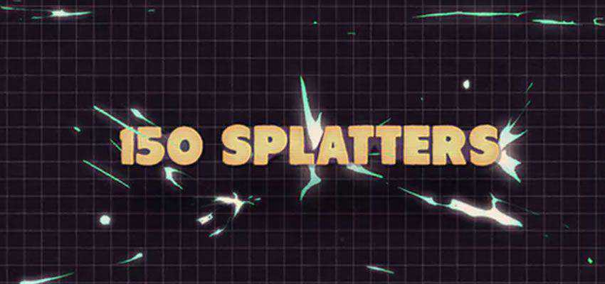 150 Splatter Animations