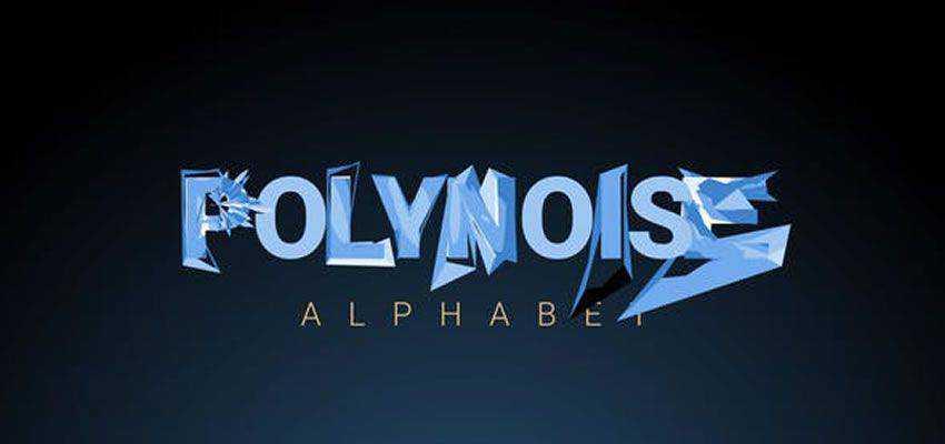 PolyNoise Alphabet Animated Typeface
