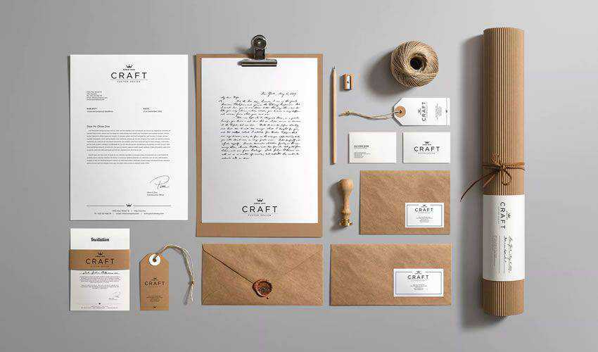 Craft Branding Mockup PSD Photoshop Free