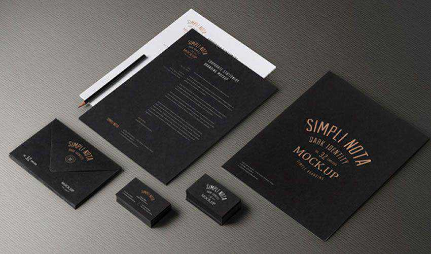 Stationery Branding Mockup Vol 3-2 PSD Photoshop Free