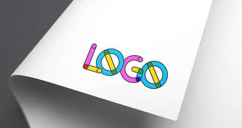 Full-Color Logo Mockup Photoshop PSD Free