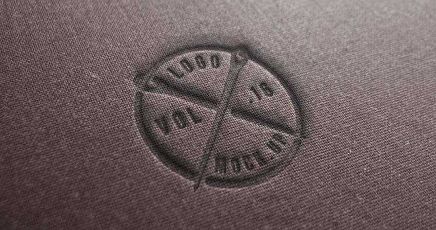 Linen Logo Mockup Template Photoshop PSD Free