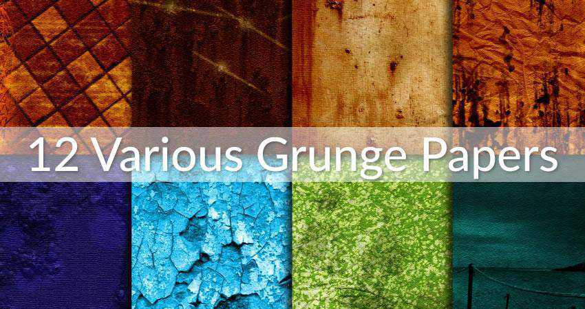 Various Grunge Paper Overlays Photography Effects