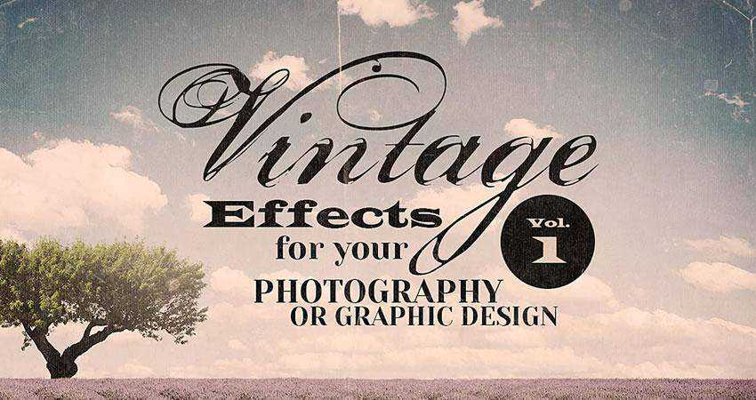 Vintage Effect Resources Photography Effects