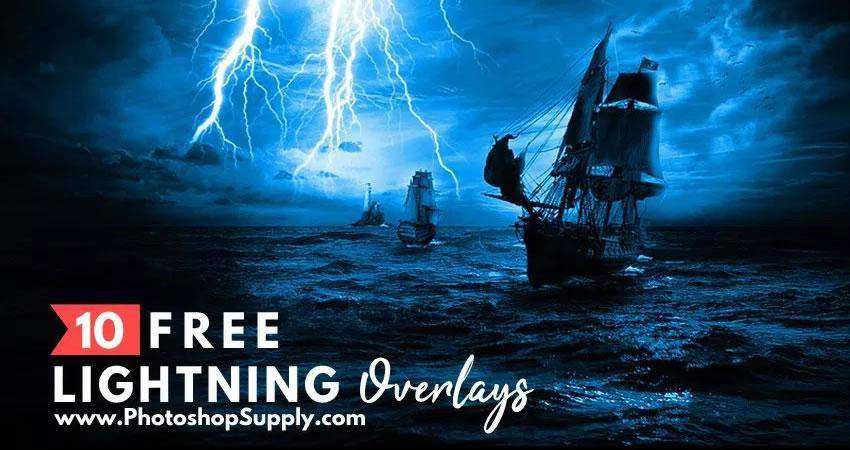 Lightning Overlays Photography Effects