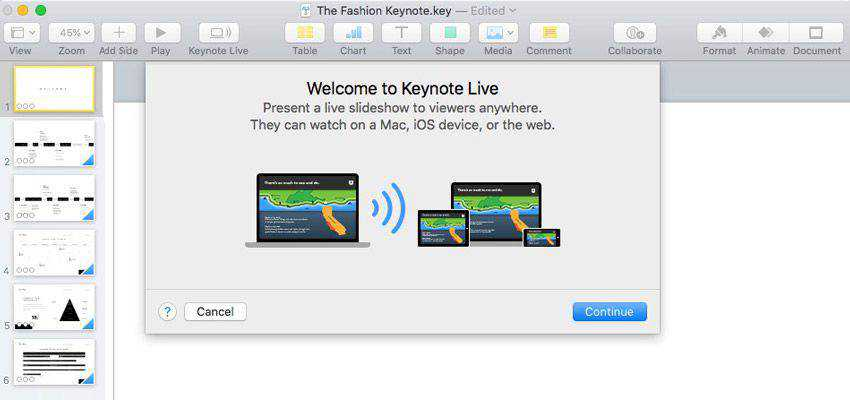 How to Use Keynote Live to Stream Presentations