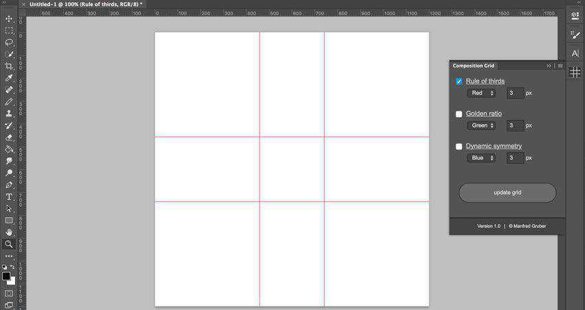 Composition Grid Plugin Photographer Plugin