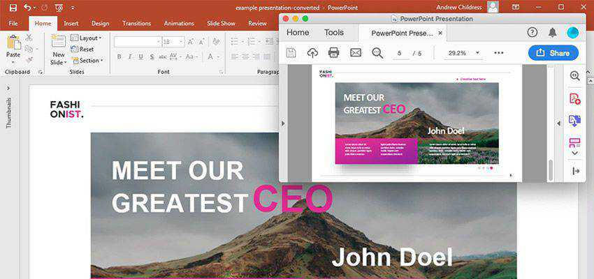 How to Convert & Insert a PDF to PowerPoint