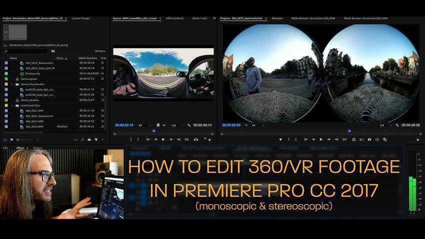 How to Edit 360 VR Video in Premiere Pro