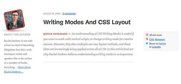Writing Modes And CSS Layout