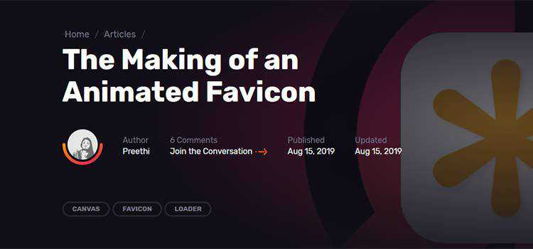 The Making of an Animated Favicon