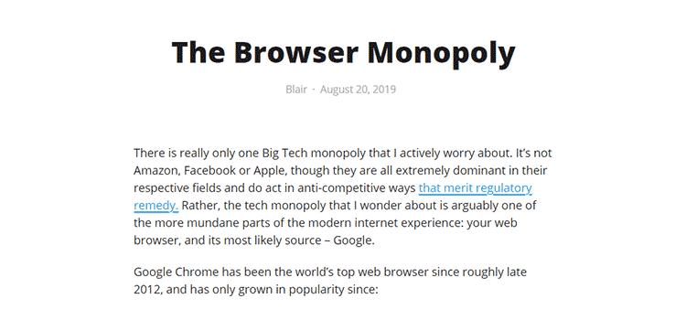 The Browser Monopoly