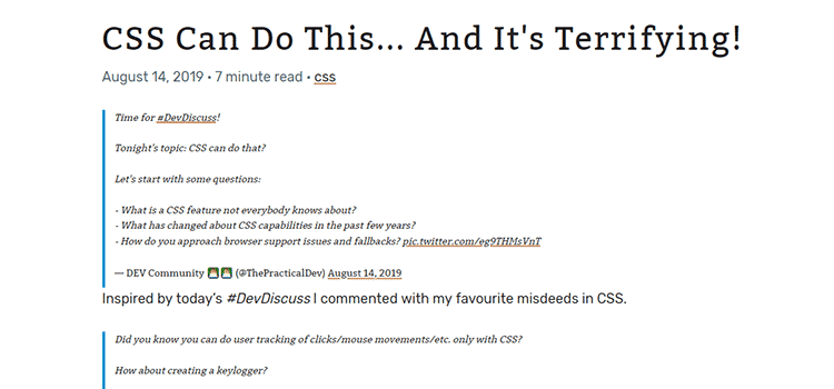 CSS Can Do This... And It's Terrifying!
