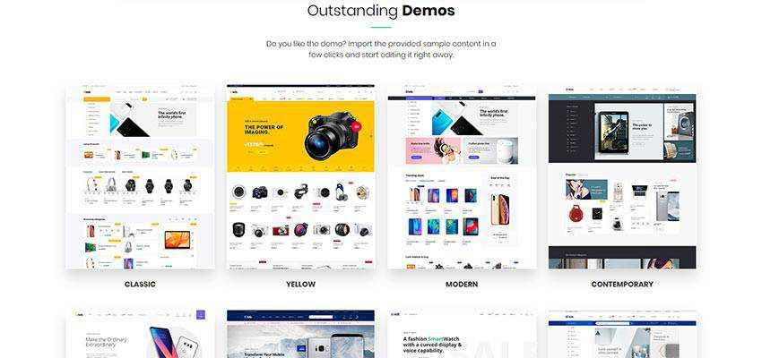 eLab Demo Website Examples
