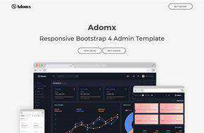 Adomx - Responsive Bootstrap 4 Admin Template