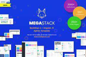 MegaStack - Bootstrap 4 & Angular JS Admin Panel