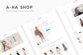 A-ha Shop - Minimal Elegant eCommerce HTML