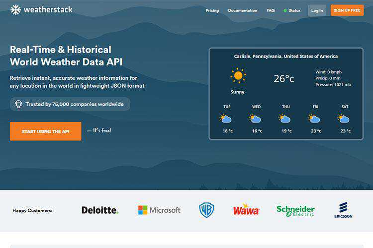 weatherstack Brings Real-Time Weather Data to Your Projects