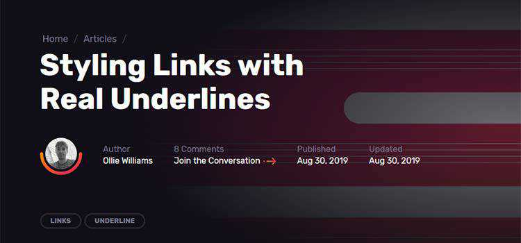 Styling Links with Real Underlines
