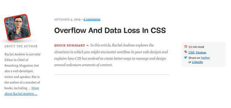 Overflow And Data Loss In CSS