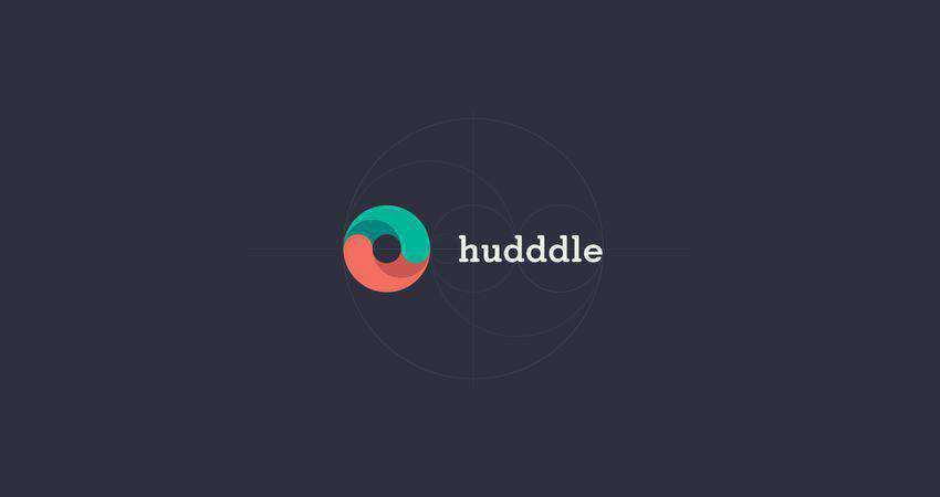 hudddle flat logo inspiration example