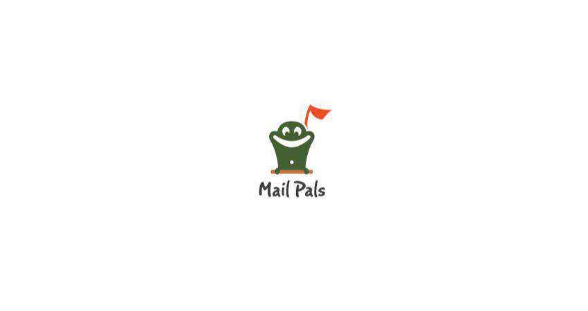 mail pals flat logo inspiration example