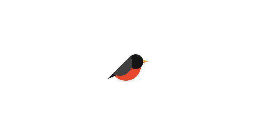 bird flat logo inspiration example
