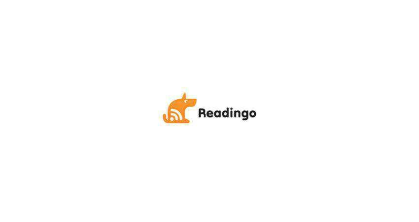 readingo flat logo inspiration example