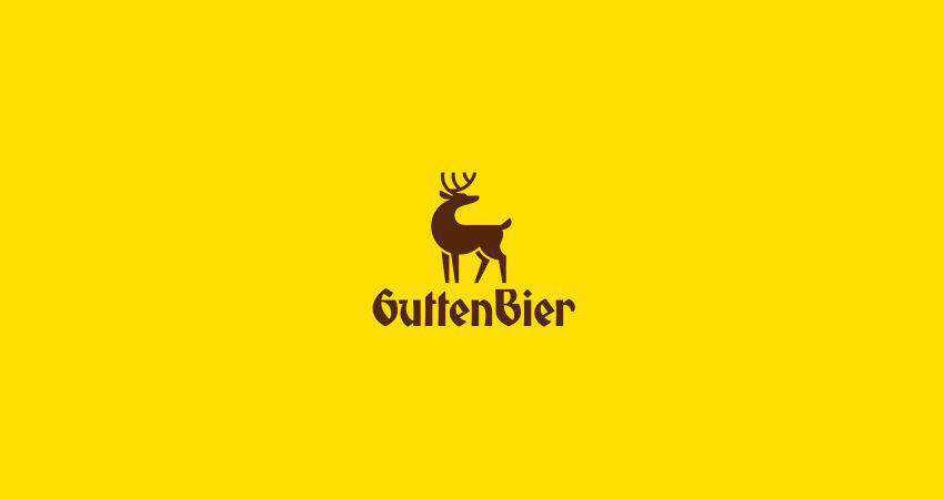 gutten bier flat logo inspiration example