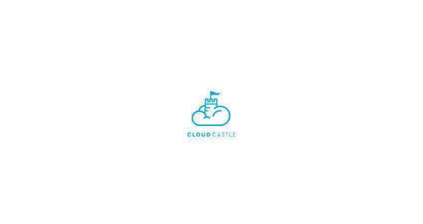 cloud castle flat logo inspiration example