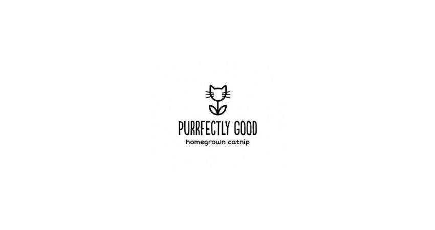 purrfectly good flat logo inspiration example