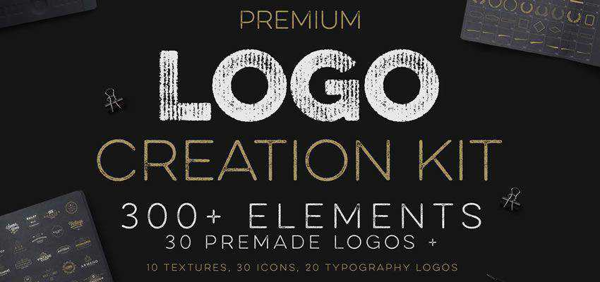 Logo Creation Kit clever typography in logo design