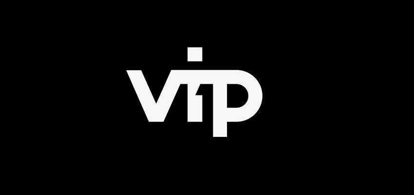 Vip1 Identity Project clever typography in logo design