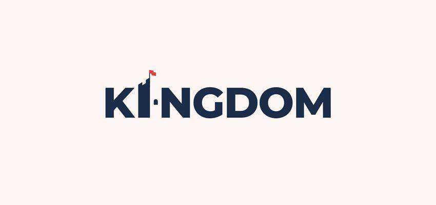 Kingdom Wordmark clever typography in logo design