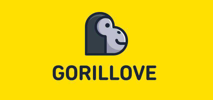 Gorillove clever typography in logo design