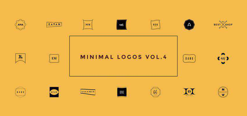 minimal clever typography in logo design