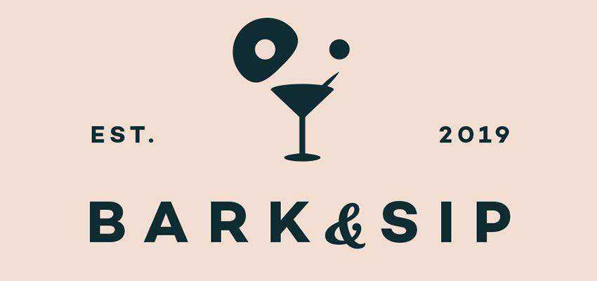 Bark And Sip clever typography in logo design