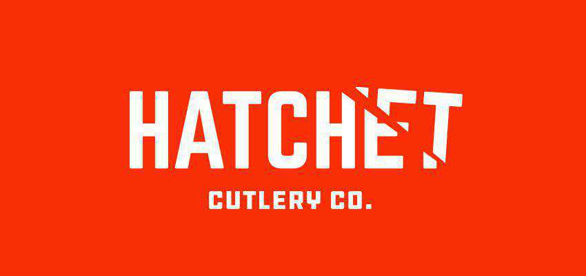 Hatchet clever typography in logo design