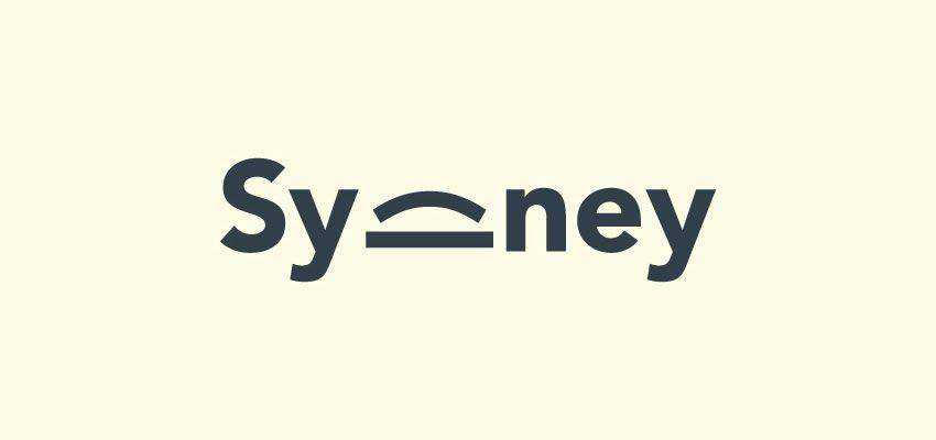 Sydney Logotype clever typography in logo design
