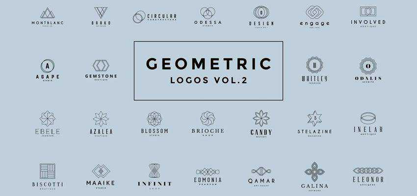 Geometric clever typography in logo design