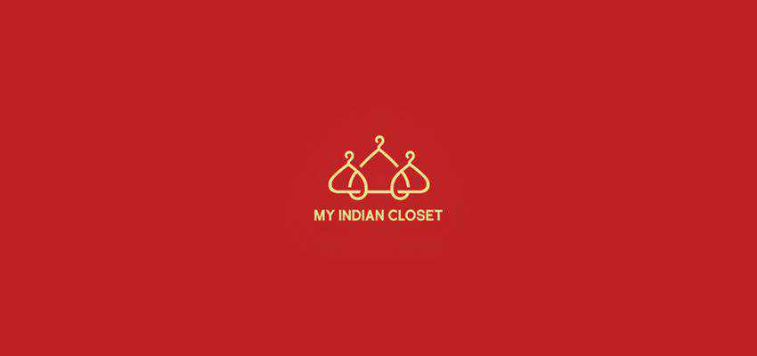 My Indian Closet clever typography in logo design
