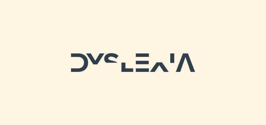 Dyslexia Logotype clever typography in logo design