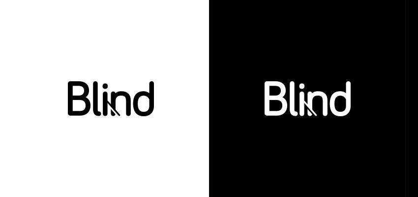 Blind Wordmark clever typography in logo design