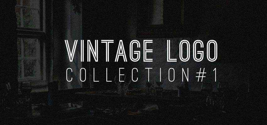 Vintage Logo Collection clever typography in logo design