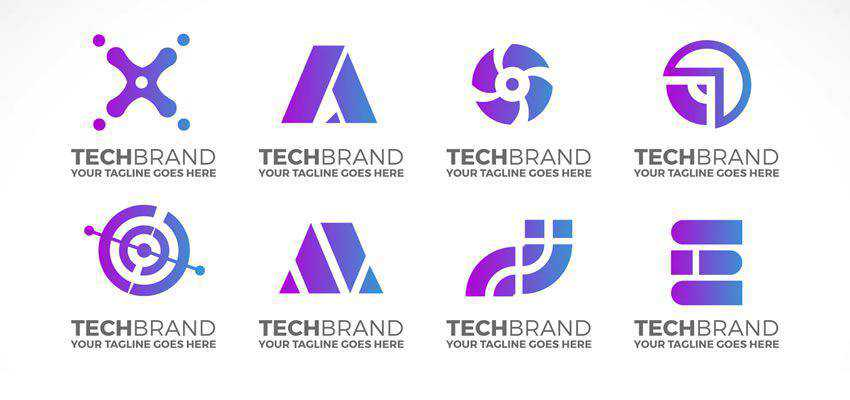 Technology Logo Collection clever typography in logo design
