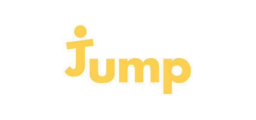 jump clever typography in logo design
