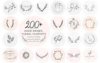 200+ Floral Elements