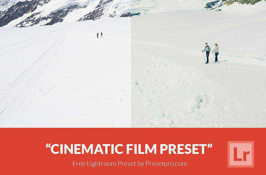free cinematic movie lightroom preset