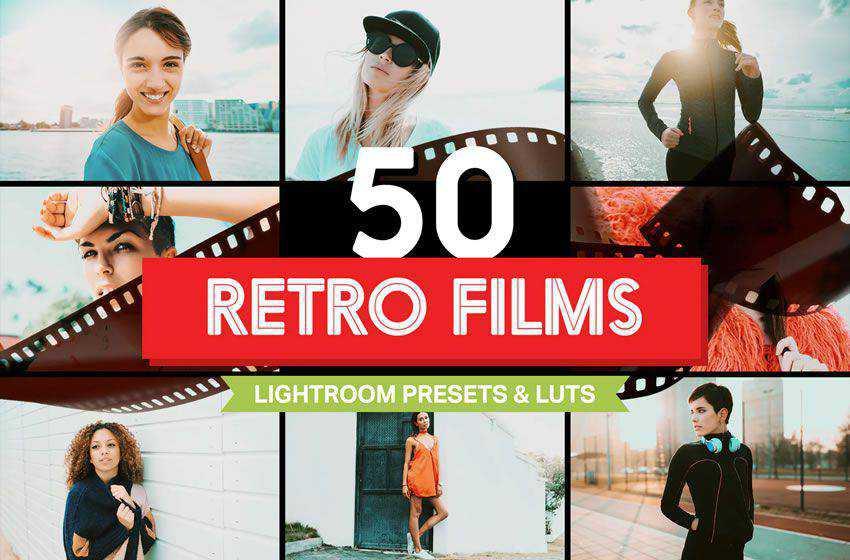 50 Retro free cinematic movie lightroom preset