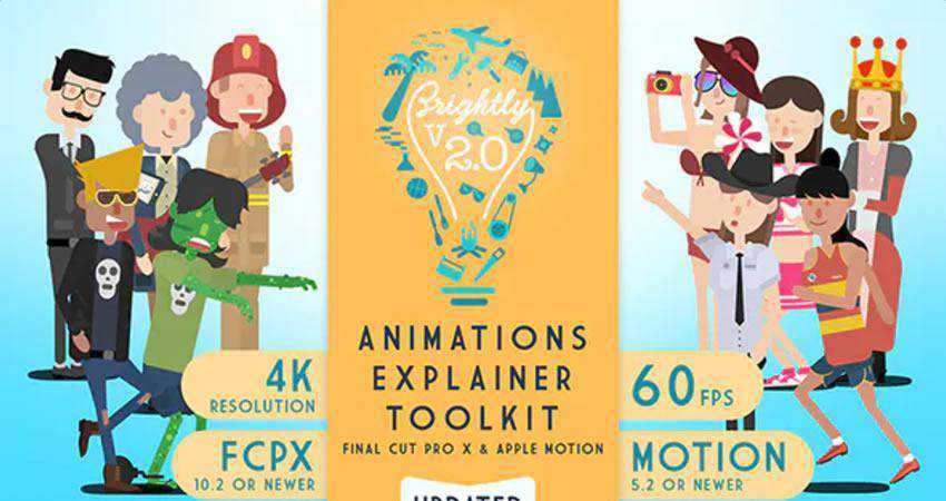 Brightly Animations Explainer Toolkit free final cut pro fcpx preset template